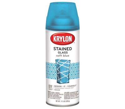 Krylon K09029000 Stained Glass Spray Paint Stained Glass Soft Blue 12 Ounce