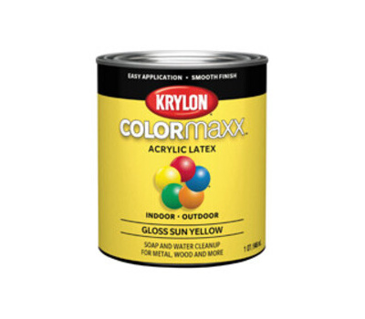 Krylon K05645007 Colormaxx Paint Gloss Sun Yellow Quart