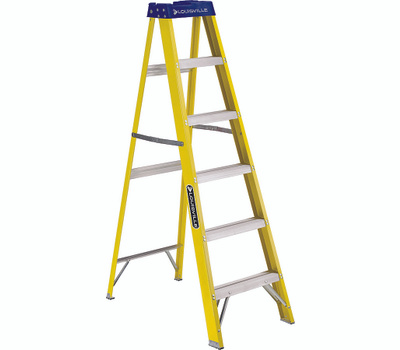 Louisville Ladder FS2005 Fiberglass Step Ladder 5 Foot Type I