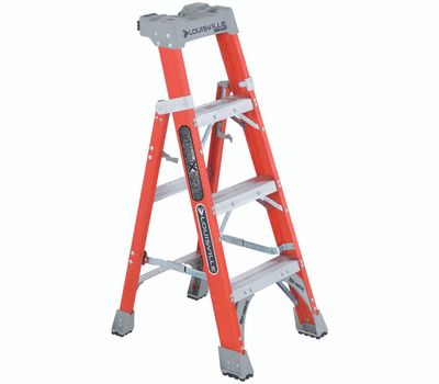 Louisville Ladder FXS1504 Ladder Ia Fbrgls Crss-Step 4Ft