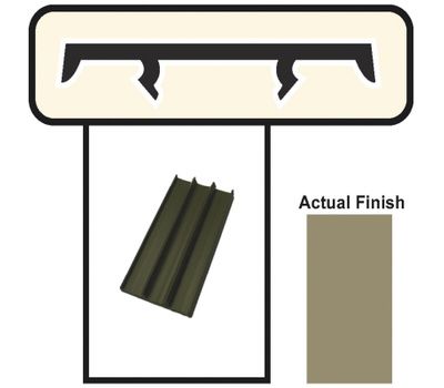Screen Tight BRCAP18 1-1/2X8 Foot Brown Screening Cap