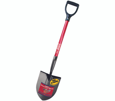 NEW Bully Tools 82515 14 Gauge Round Point Shovel with Fiberglass Long Handle