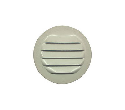 """Maurice Franklin RLW-100 1.5"""" 1 1/2 Inch Round White Aluminum Screen Louver"""