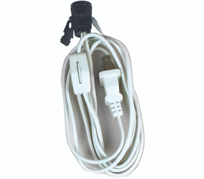 Jandorf 60138 Lamp Replacement Cord Set With 6 Foot Cord White