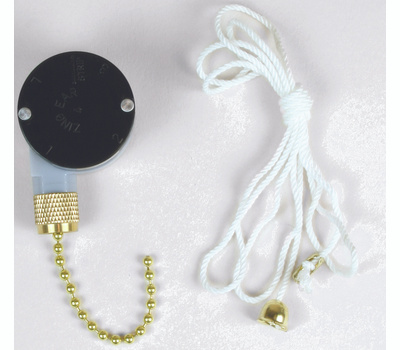 Jandorf 60306 Ceiling Fan Switch 3 Speed And 8 Wire With Brass Pull Chain