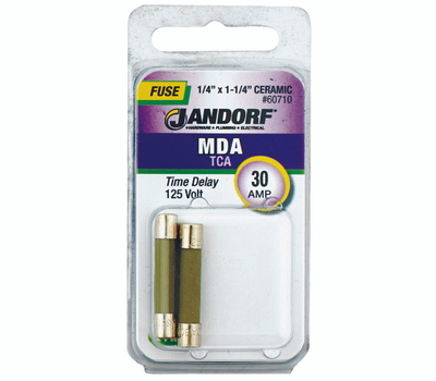 Jandorf 60710 30 Amp MDA Time Delay Ceramic Fuses 2 Pack