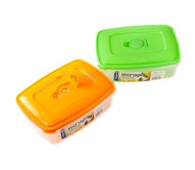 FLP 8006 Easy Pack Rectangular Storage Container With Assorted Colors Of Vented Lid