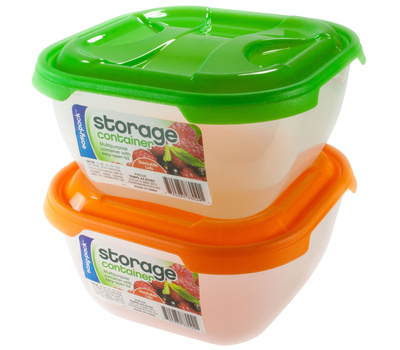 FLP 8024 Easy Pack Storage Container 2L Assorted Colors