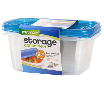 FLP 8069 Easy Pack Rectangular Storage Containers With Lids Pack Of 2 Assorted Colors