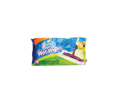 FLP 8863 Clean Up Lemon Scented Wet Wipes Pack Of 15 Assorted Colors