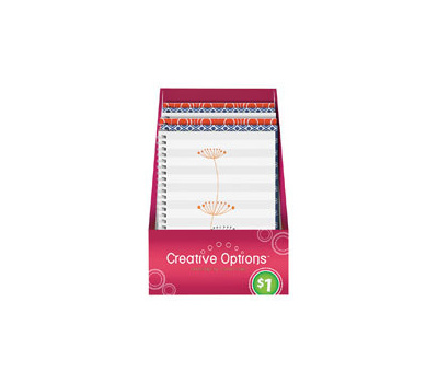 FLP 9913 Creative Options Spiral Notebook Assorted Colors