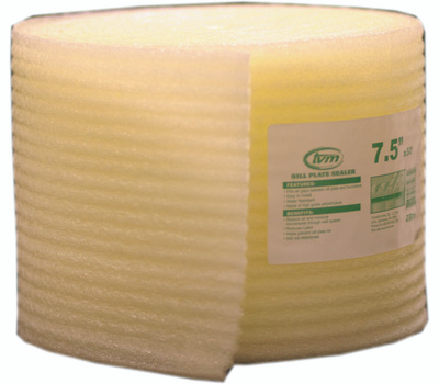 Innovative Energy W508 Sill Seal Foam 7.5 Inch Wide By 50 Foot Length By 1/4 Inch Thick