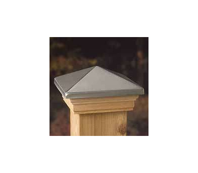 Deckorators 72332 Maine Ornamental 4 Inch By 4 Inch Stainless Post Cap Treated