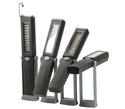 Promier 42LEDWORKGRAY 6 Plus 36 Led Swivel Flashlight & Task Light Black With Gray Stand