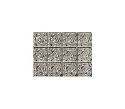 ACP D6021 18 By 24 Inch Backsplash Panel Cross Hatch Silver