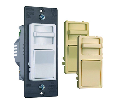 Pass & Seymour WS703PTCCCV6 Trade Master 700W 3 Way Preset Wide Slide Incandescent Dimmer With 3 Interchangeable Face Colors