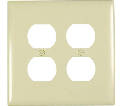 Pass Seymour Tpj82icc10 Ivory 2 Gang Double Duplex Outlet Opening