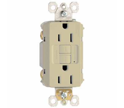 Pass & Seymour 1597ICC10 15 Amp Self Test GFCI With Wallplate Ivory