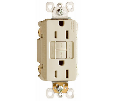 Pass & Seymour 1597NTLTRICC4 15 Amp Lighted & Self Test GFCI Ivory