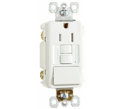 Pass & Seymour 1597SWTTRWCC4 15 Amp Switch & Self Test GFCI White ...