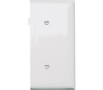 Pass & Seymour PJSE14W White Blank End Section Sectional Nylon Wall Plate