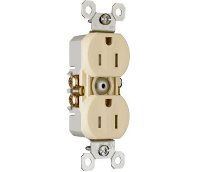 Pass & Seymour 3232TRICC14 15 Amp 25 Volt Ivory Receptacle