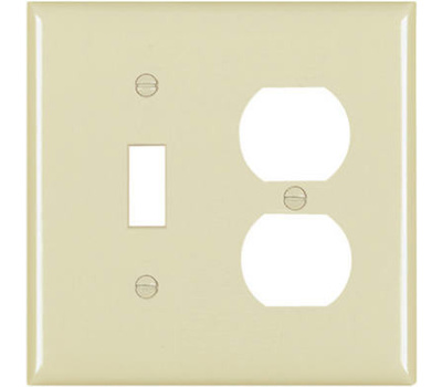 Pass & Seymour TP18ICC12 Ivory 2 Gang Toggle Duplex Plate