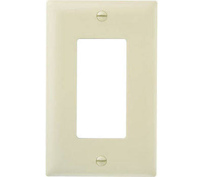 Pass & Seymour TP26ICC100 Ivory 1 Gang Decorator Wall Plate