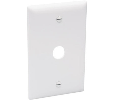 Pass & Seymour TP60W White Telephone Or Cable Outlet Wall Plate 5/8 Inch