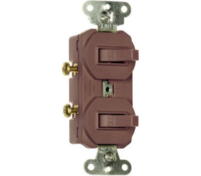 Pass & Seymour 690G 15 Amp 120/277 Volt Brown Grounding 2 Single Pole Switches