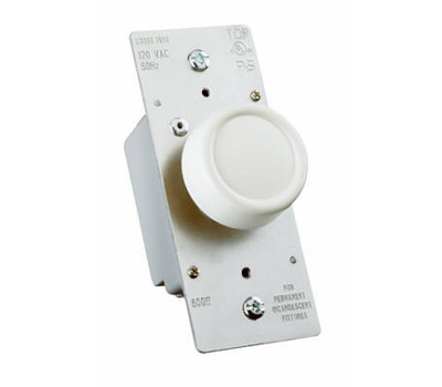 Pass & Seymour R600PLTKV 600 Watt Ivory Rotary Power Dimmer
