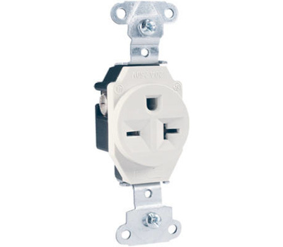 Pass Seymour 5851wcc8 20 250 Volt White 2 Pole 3 Wire. Pass Seymour 5851wcc8 20 250 Volt White 2 Pole 3 Wire Grounding Heavy Duty. Wiring. Wiring Single Pole 20a Outlet At Scoala.co