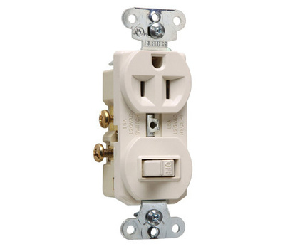 Pass & Seymour 691LACC6 Combination Switch & Outlet Light Almond