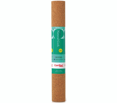 Kittrich 04F-C6421-06 Creative Covering Self Adhesive 18 Inch By 4 Foot Natural Cork