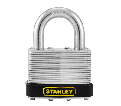 National Hardware S203-281 Stanley 1-15/16 Inch 50 MM Laminated Padlock Zinc Plated