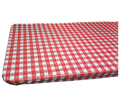210 & Kwik Covers 3072PKRW 30 By 72 Red Gingham Table Cover
