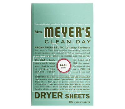 Mrs Meyers 14448 80CT Basil Dryer Sheets