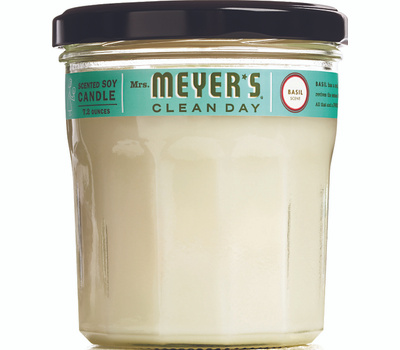 Mrs Meyers 44116 7.2 Ounce Basil Soy Candle