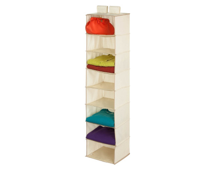 Honey Can Do SFT-01253 8 Shelf Hanging Organizer Natural