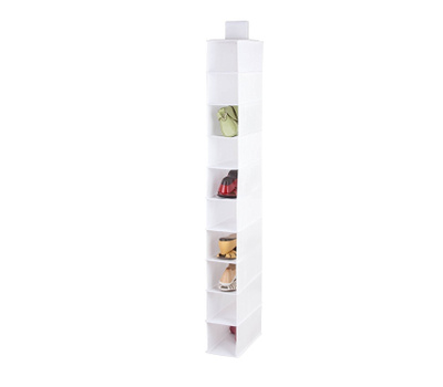 Honey Can Do SFT-01576 10 Shelf Hanging Shoe Organizer White Color