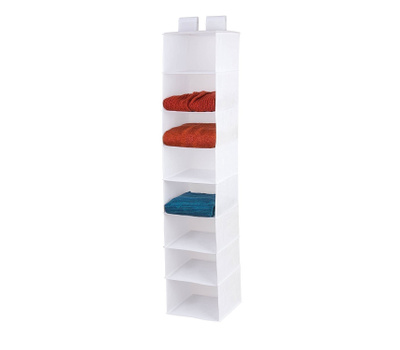 Honey Can Do SFT-01577 8 Shelf Hanging Organizer White