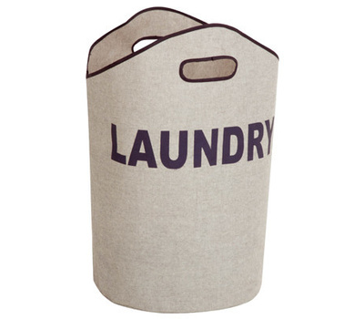 Honey Can Do LDY-02915 23.6 Inch Gry Laundry Tote