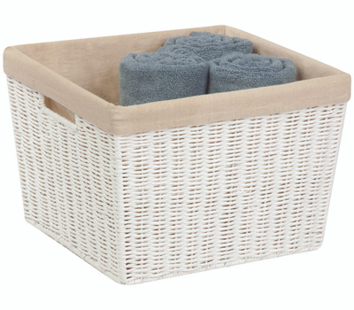Honey Can Do STO-03561 Basket Cord W/Liner Large Wht