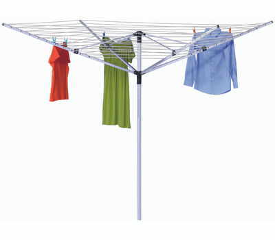 Honey Can Do DRY-05262 In Ground Outdoor Umbrella Dryer With 165 Feet Of Drying Line 73 X 72 Inches