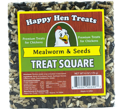 Happy Hen 17087 6 Ounce Mealworm Seed Treat
