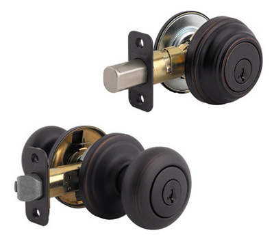 Kwikset 991J 11P SMT CP 4 Juno Keyed Entry And Single Cylinder Deadbolt Smartkey Venetian Bronze