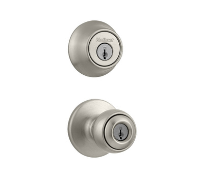 Kwikset 690P 15 CP K6 Polo Keyed Entry And Single Cylinder Deadbolt Satin Nickel