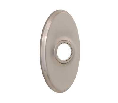 Kwikset 27601 15 SA RSE DECO OV Parts Oval Backplate Set For Reversible Levers Satin Nickel
