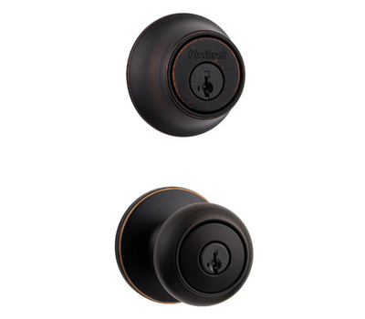 Kwikset 690CV 11P CP K6 Cove Keyed Entry And Single Cylinder Deadbolt Venetian Bronze