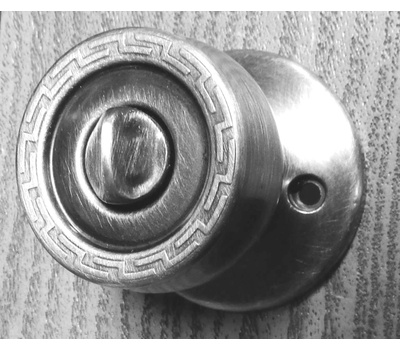 Kwikset 300G 15 CP Grecian Bed And Bath Privacy Lockset Satin Nickel